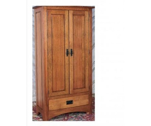 Bridger Mission Linen Cabinet with wood sides