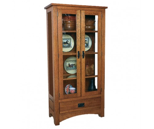 Bridger Mission Linen Cabinet with glass sides