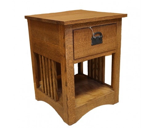 Bridger Mission One Drawer Spindle Nightstand