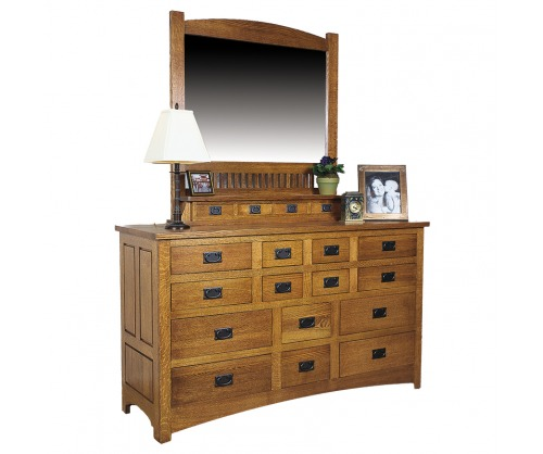 Bridger Mission Fourteen Drawer Dresser