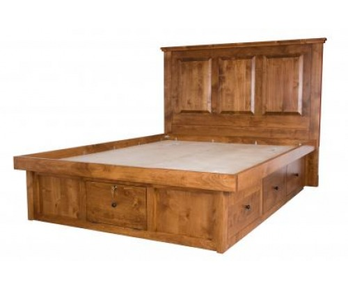 Virginia City Pedestal Bed with Raised Panel Headboard