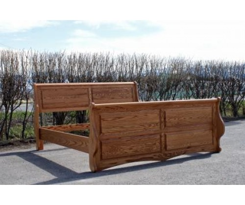 Bitterroot Raised Panel Sleigh Bed
