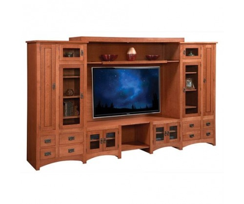 Bridger Mission Deluxe Home Theater Entertainment Center