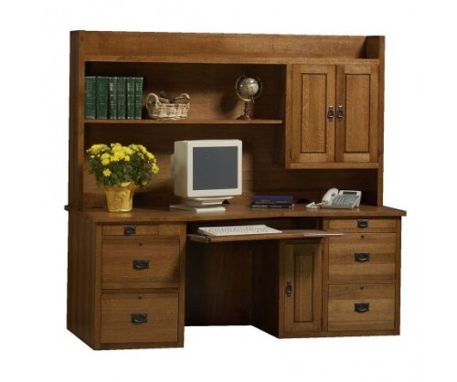 Bridger Mission Boulder Desk & Hutch