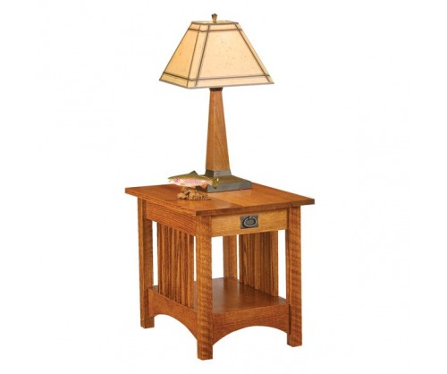 Bridger MIssion One Drawer End Table