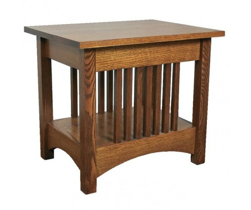Bridger Mission Spindle End Table