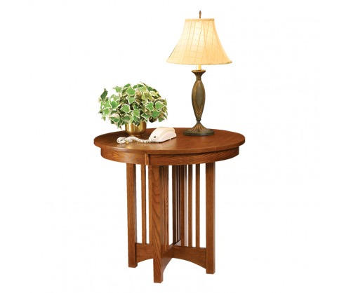 Gallatin Classic Round Telephone Stand End Table