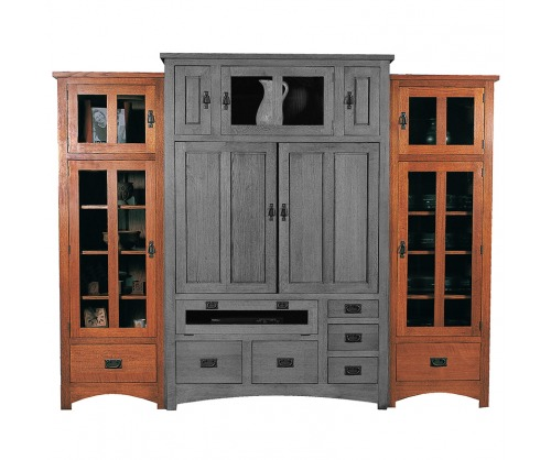 Gallatin Classic Side Bookcases for Entertainment Unit