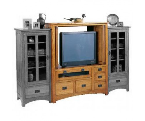 Gallatin Classic Entertainment Cabinet with Media Drawer