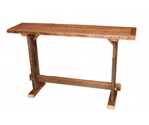 Reclaimed Sofa Table with bottom shelf
