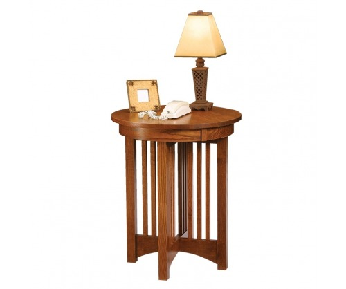 Gallatin Classic Round Lamp Table