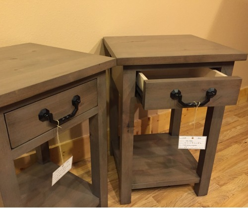 Custom Gray Accent Tables