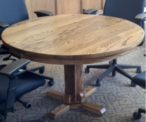 Gallatin Classic Round Pedestal Table