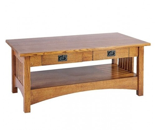 Bridger Mission Lower Shelf Coffee Table