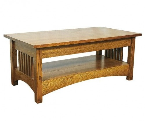 Gallatin Classic Spindle Coffee Table with Lower Shelf