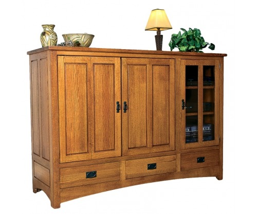 Bridger Mission Entertainment Center with 3 drawers