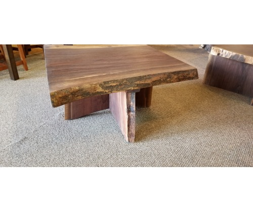 Walnut Live Edge Slab Top Coffee Table