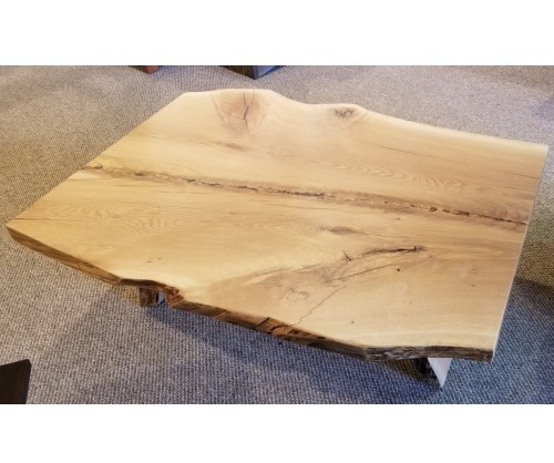 White Oak Natural Edge Coffee Table