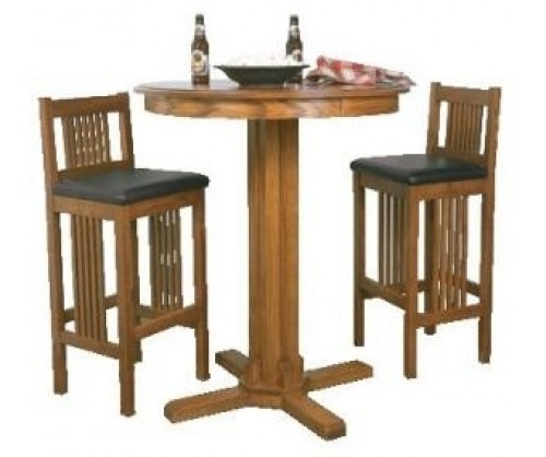 Bridger Mission Round High Pub Table