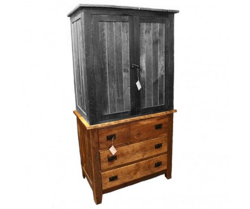Reclaimed 3 Drawer Dresser (Armoire Bottom)