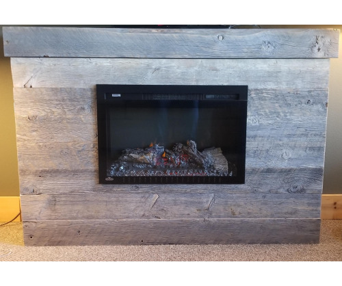 Reclaimed Electric Fireplace