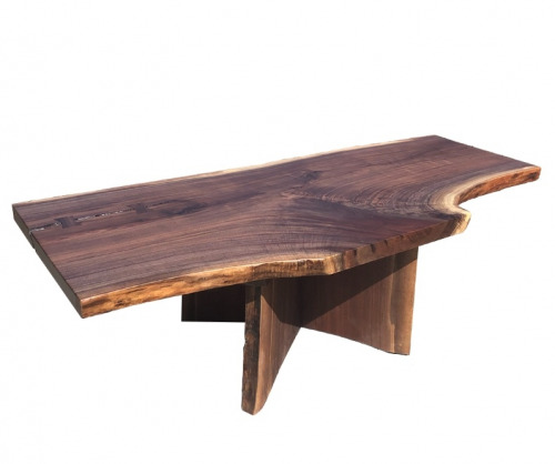 Live Edge Walnut Coffee Table with Cross Cut Slab
