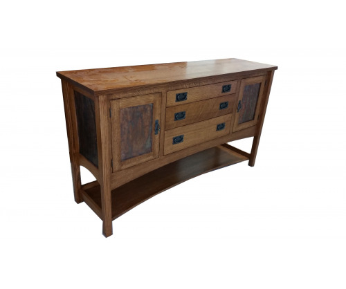 Gallatin Classic Sideboard with Metal Panel Doors