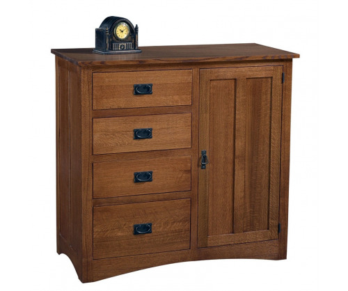 Gallatin Classic Four Drawer Chifforobe