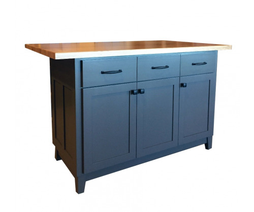 Kitchen Island Bar Custom Gray