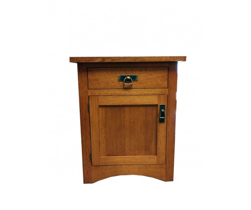 Gallatin Classic Nightstand One Drawer One Door