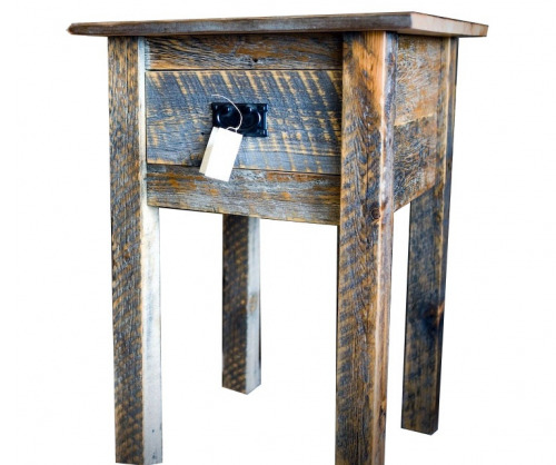 Reclaimed Tall Lamp Table